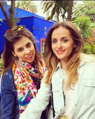 Anne Jano and Elle Jano Mexico City Frida's house