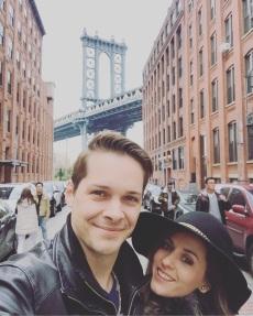 Cutest couple on earth NYC Brooklyn Bridge